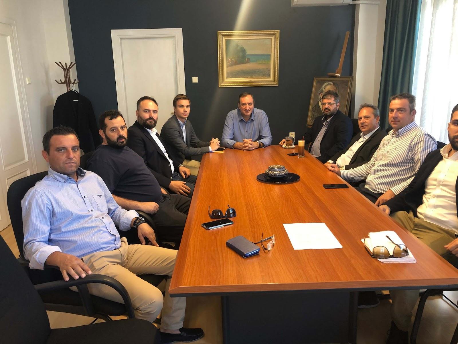 Συνάντηση του Δημάρχου Τυρνάβου με τον Πρόεδρο του Ινστιτούτου Γεωπονικών Επιστημών