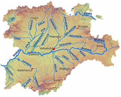 Rio Tambre Mapa Fisico.El Blog De Sexto Tema 4 Los Paisajes De Espana Los Rios