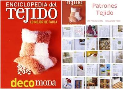 Revista Enciclopedia del tejido labores de crochet