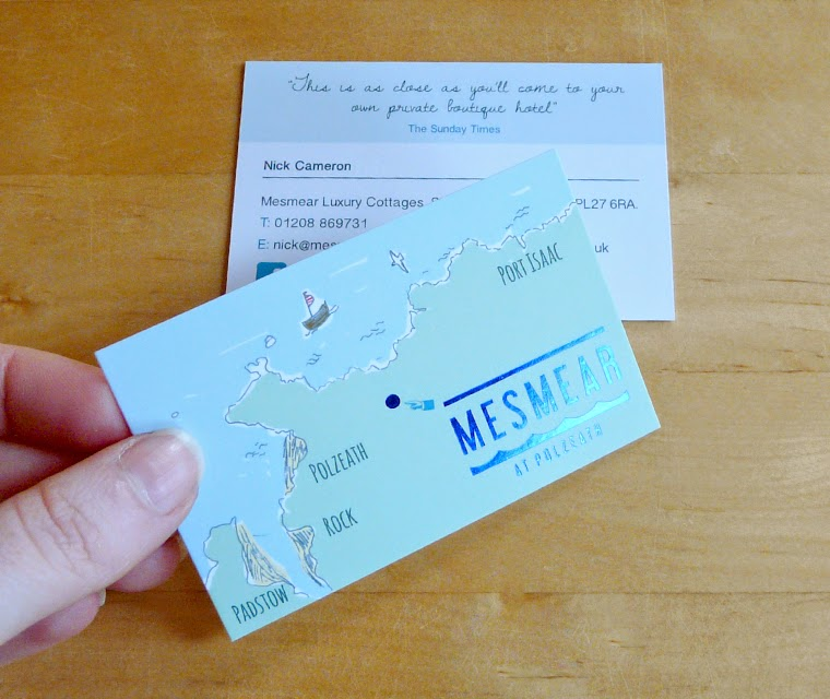 Beautiful Business Cards for Luxury Holiday Cottages