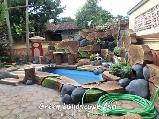 Jasa Pembuatan Relief Kolam Tebing Nganjuk | Tukang Dekorasi Relief Taman