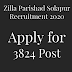 Zilla Parishad Solapur Recruitment 2020 Apply for 3824 Post