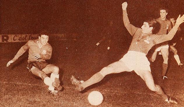Francia y Chile en partido amistoso, 16 de marzo de 1960