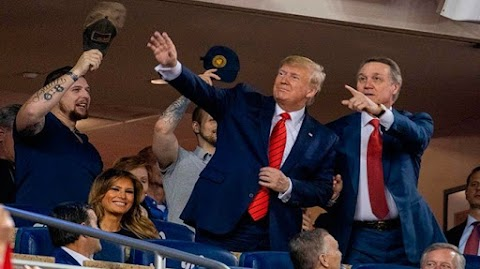 Trump booed by fans at the ball game