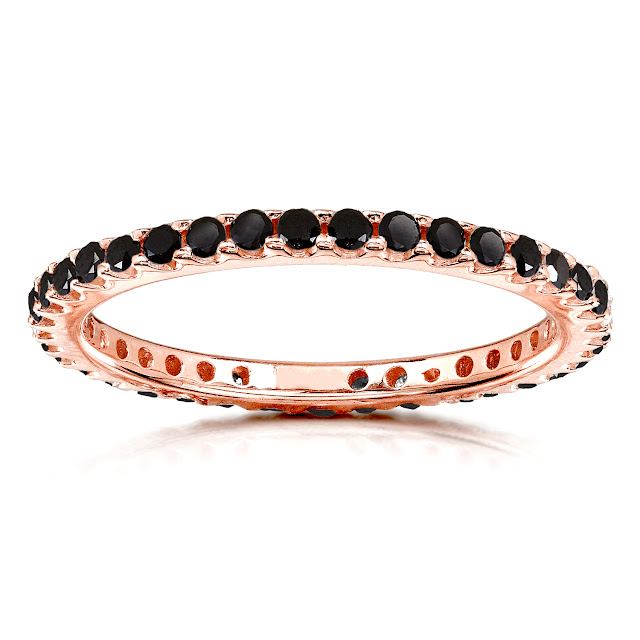Black Diamond Eternity Band 1/2 carat (ctw) in 14K Rose Gold