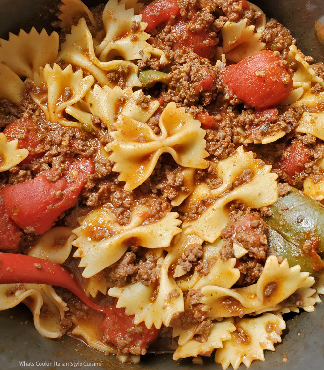 this is pasta with Venison Bolognese Sauce over the top of it