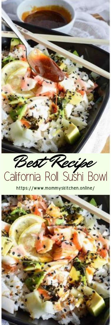 California Roll Sushi Bowl #healthyfood #dietketo #breakfast #food