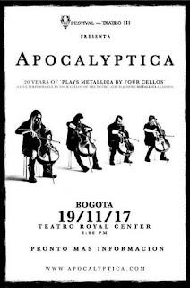 Concierto de APOCALYPTICA en Bogotá 2017