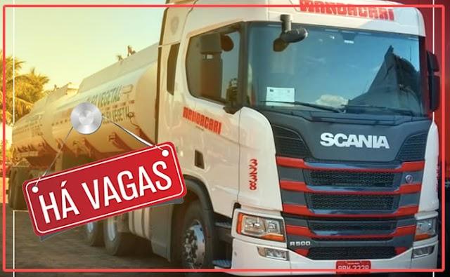 Transportadora Mandacari abre processo seletivo para Motorista