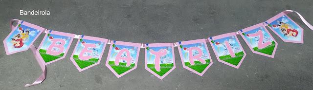 Bandeirolas As Princesas  Disney dicas e ideias para decoração de festa personalizados