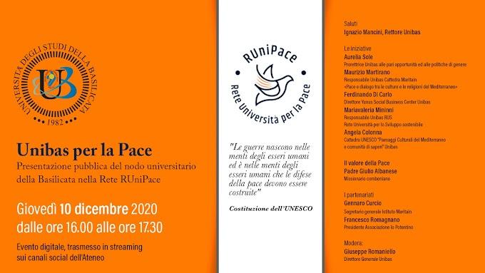 Unibas: presentazione della rete 'Unipace' a cui ha aderito l'Ateneo