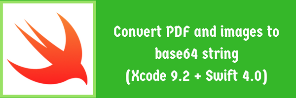 Convert pdf & images to base64 string swift 4