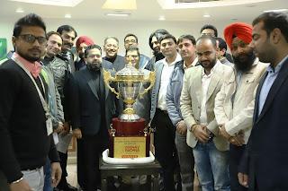 मानव रचना में 13वें कॉर्पोरेट क्रिकेट चैलेंज 11 जनवरी 2020 की ट्रॉफी का आगाज