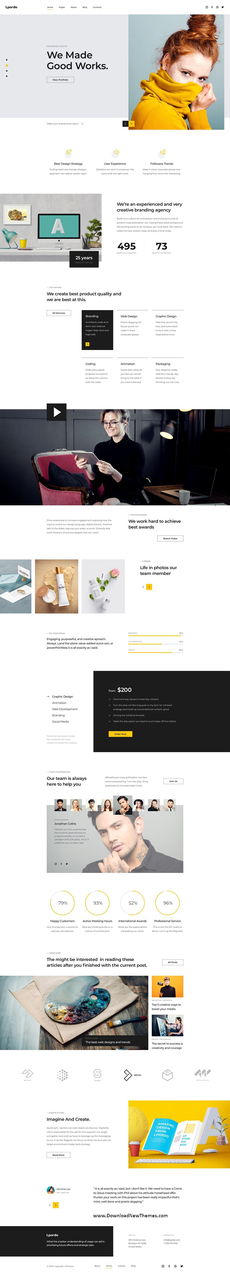 Creative agency Adobe XD Template