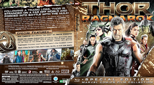 Thor Ragnarok Bluray Cover