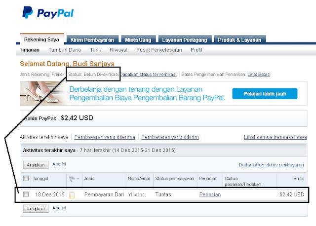 Menambah Saldo PayPal tanpa Verifikasi