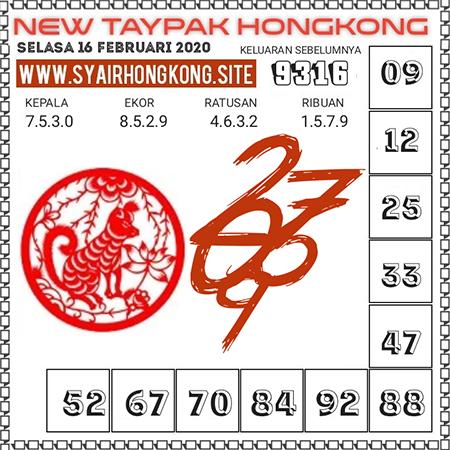 Prediksi Togel New Taypak Hongkong Selasa 16 Februari 2021