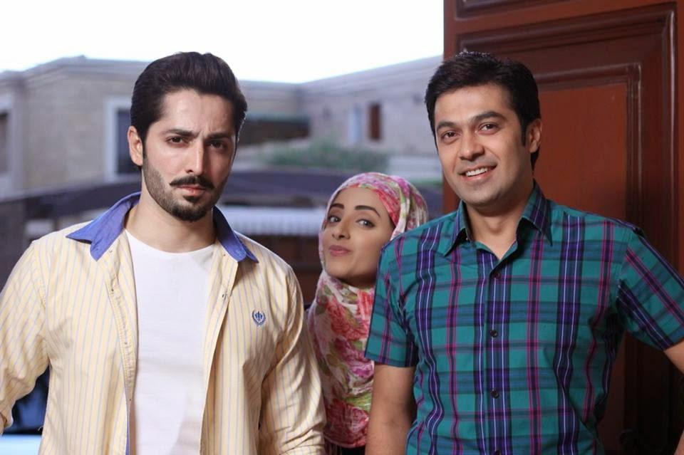 Danish Taimoor & Sanam Chaudhry on Set of Eid Play for Hum