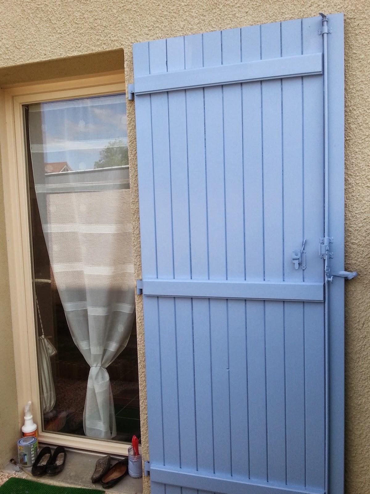 B T S Ponçage Et Peinture Volet Bleu Lavande