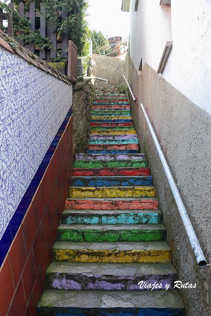 Escalera de colores de Ribadesella