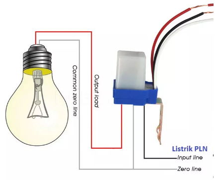 Membuat lampu penerangan otomatis saat siang dan malam hari