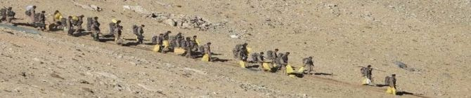 Indian & Chinese Infantry Soldiers Begin Moving Back From Kailash Range South of Pangong Tso