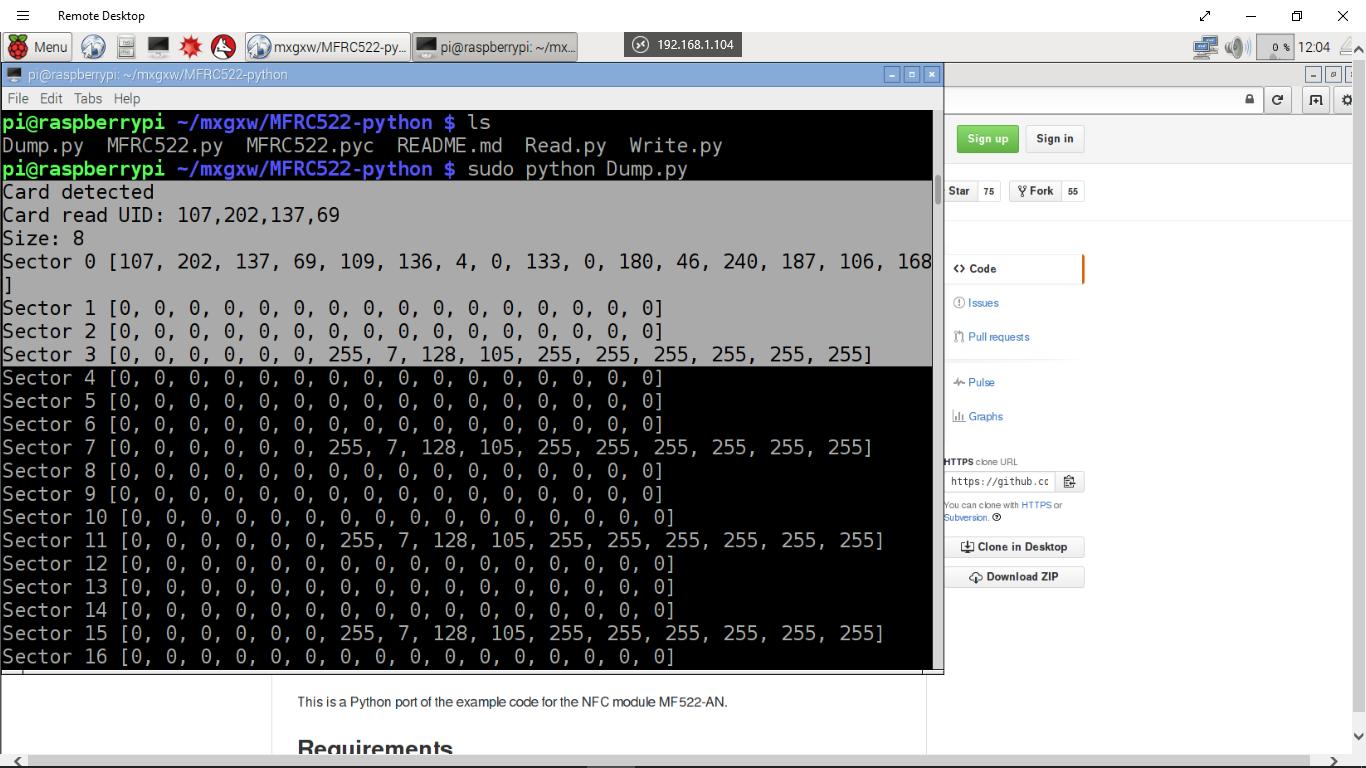 Hello Raspberry Pi: Raspberry Pi 2 + MFRC522-python - Dump