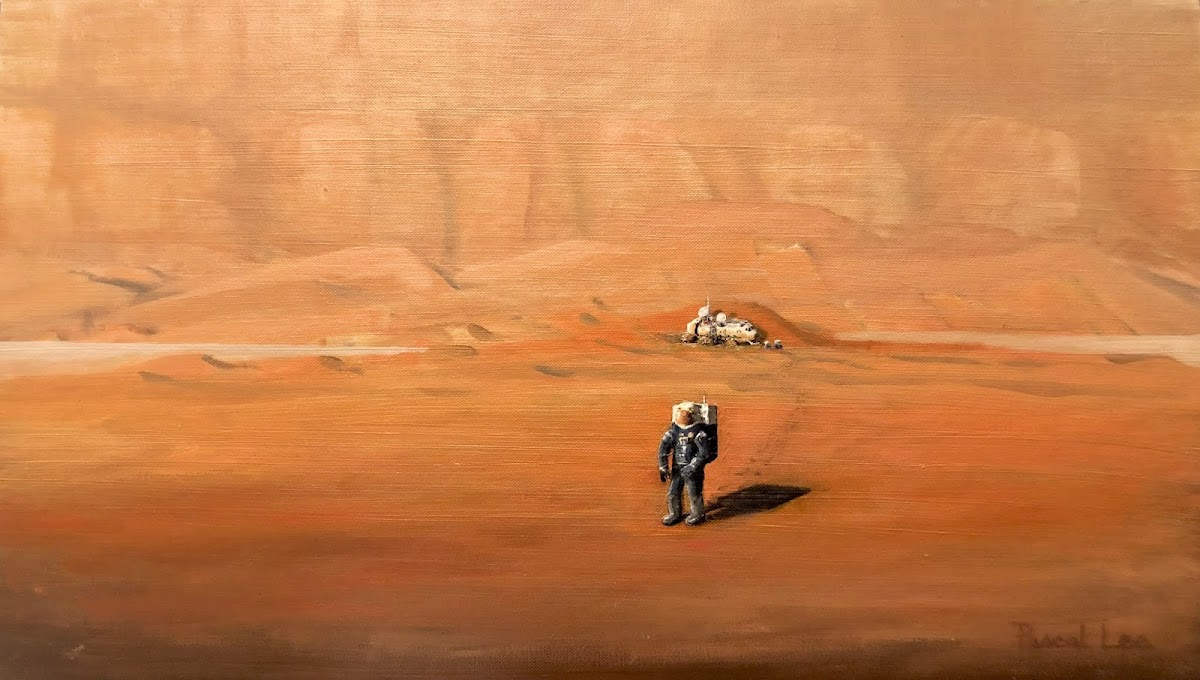 Astronaut exploring Mars by Pascal Lee