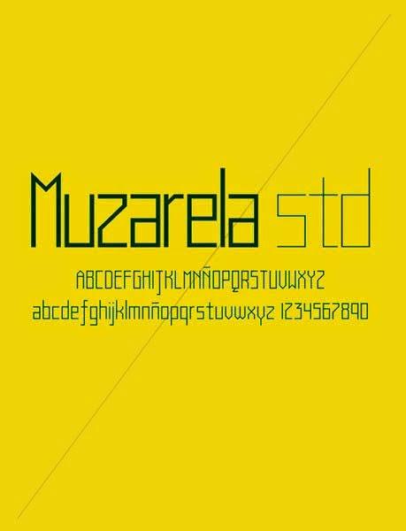 Muzarela STD font