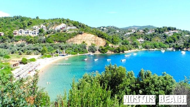 Nostos beach Skiathos island