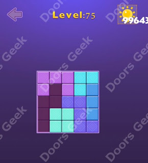 Cheats, Solutions, Walkthrough for Move Blocks Easy Level 75