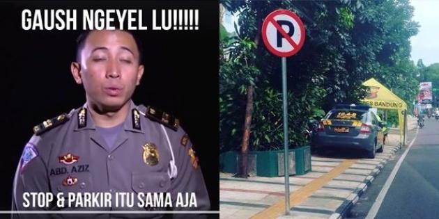 Kumpulan Meme Lucu Polisi 'Aziz' Tilang Sopir Taxi Lagi Berhenti