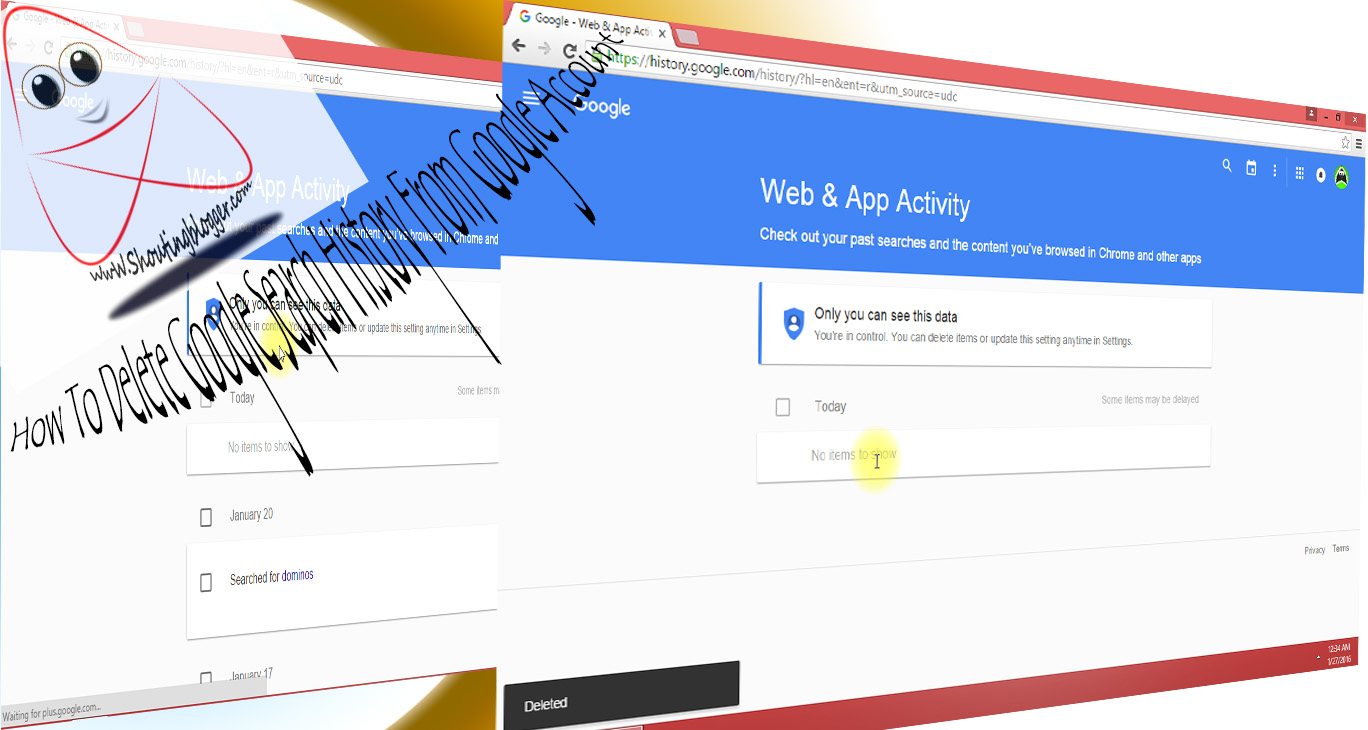 how to permanently delete google search history