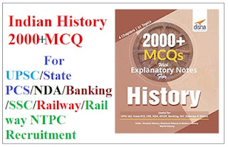 Indian History 2000+ MCQ for UPSCState PCSNDABankingSSCRailwayRailway NTPC Recruitment