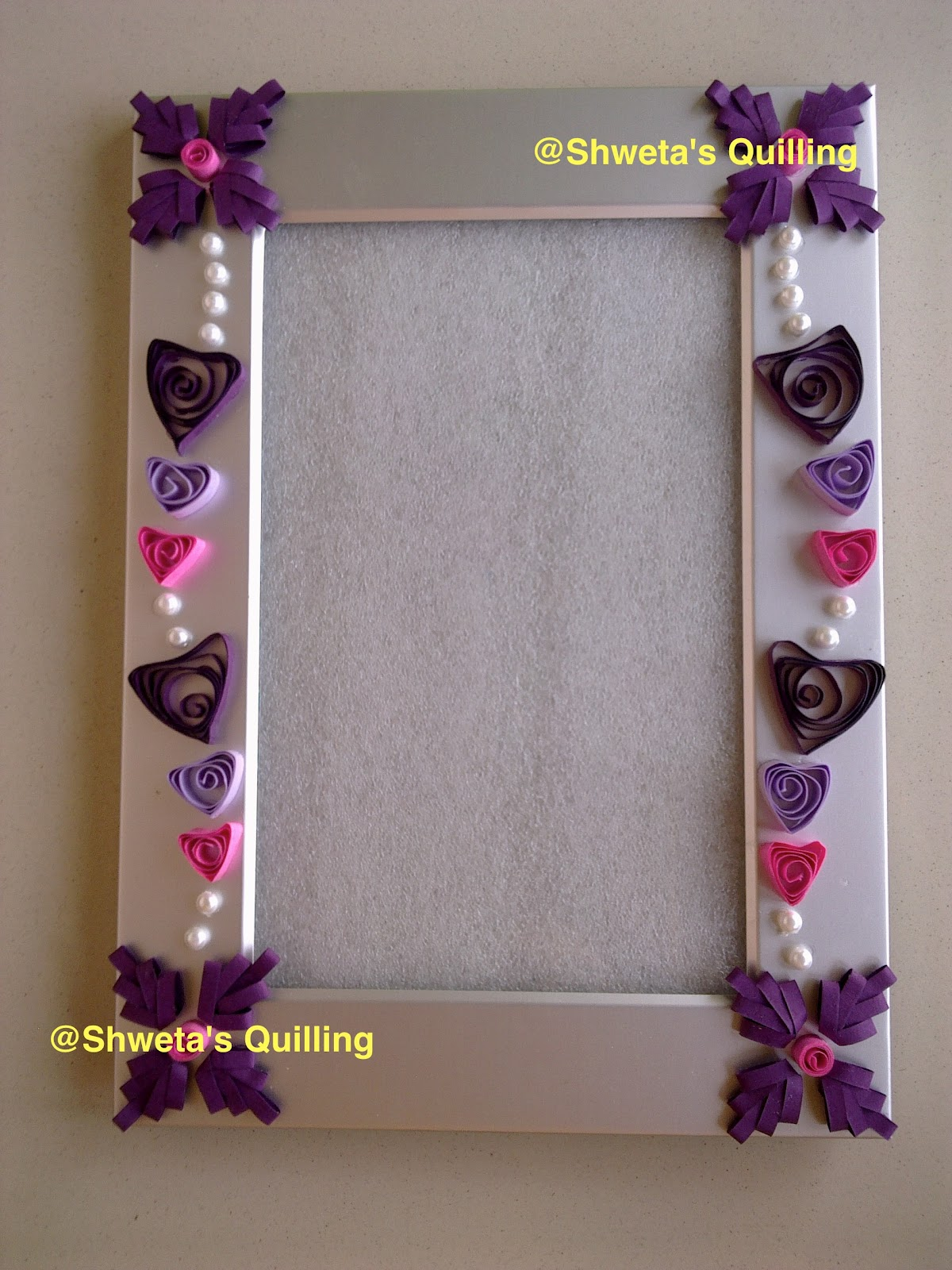 shweta 39 s paper quilling quilled photo frames. Black Bedroom Furniture Sets. Home Design Ideas