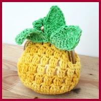 Monedero piña a crochet