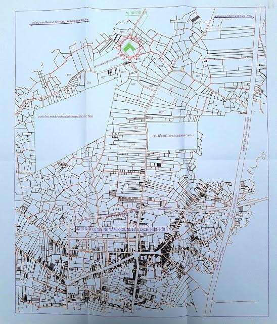 Vị trí dự kiến dự án khu công nghiệp - Đô thị - Dịch vụ 600ha tại phường Hắc Dịch