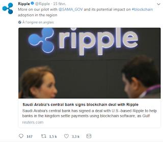 البنك المركزي السعودي يعقد شراكة مع عملة الريبل Ripple الرقمية
