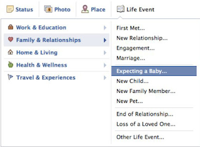 Expecting a Baby Share with Facebook