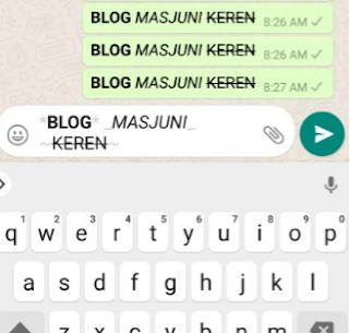 tulisan whatsapp unik