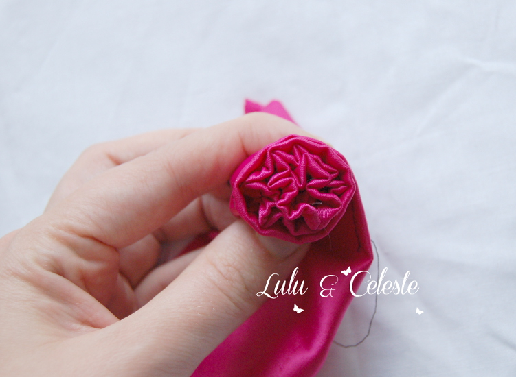 satin flower tutorial by Lulu & Celeste