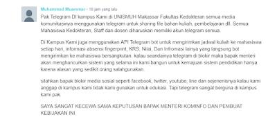 Pendapat Pengguna Telegram di indonesia setelah resmi diblokir Sangat tidak setuju karena sejauh ini bermanfaat sekali