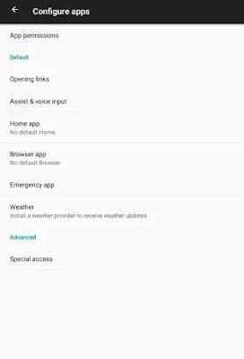 ضبط التطبيقات الافتراضية على هواتف الأندرويد