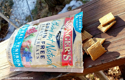 Evanger's Natural Venison Jerky Treats Make the Lapdogs Drool for More!  - #Evangers #DogFood #DogTreats #LapdogCreations ©LapdogCreations