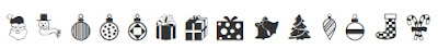 Символьный шрифт Festive