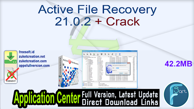 Active File Recovery 21.0.2 + Crack