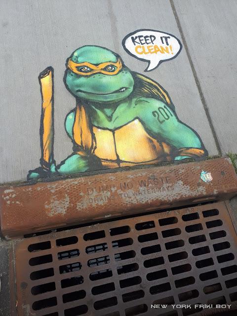 Tortuga Ninja en alcantarilla de Jersey City