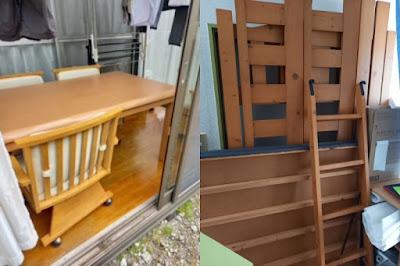 ダイニングテーブル・ロフトベッド