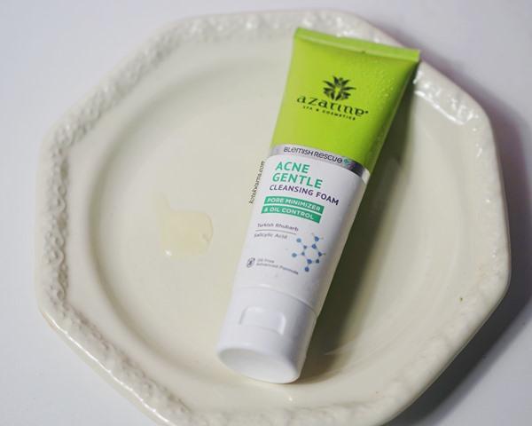 azarine acne gentle cleansing foam, facewash untuk oily skin, azarine, lokal produk
