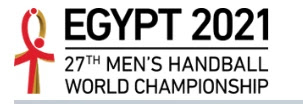 logo mundial balonmano Egipto 2021